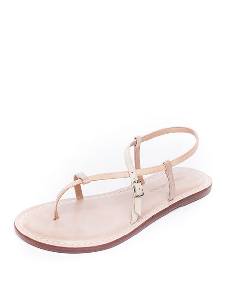 Bernardo Lexi Leather Flat Sandals