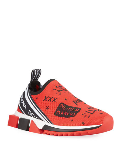 Sorrento Graffiti-Print Trainer Sneakers
