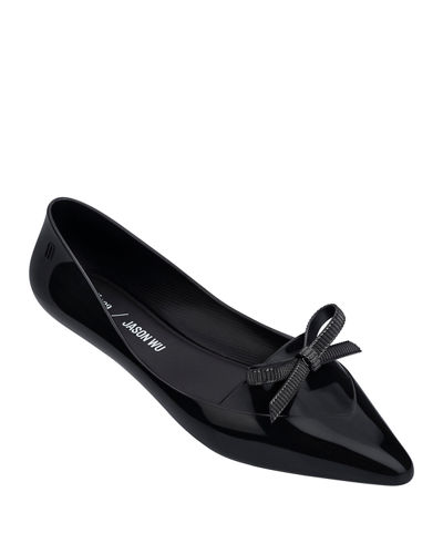 on feet images of good quality best deals on Black Pointed Toe Flats | Neiman Marcus