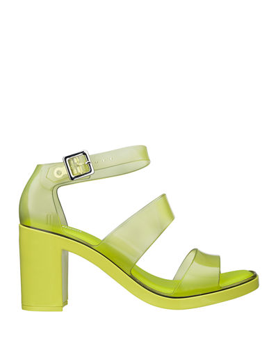 Model Jelly Block-Heel Sandals