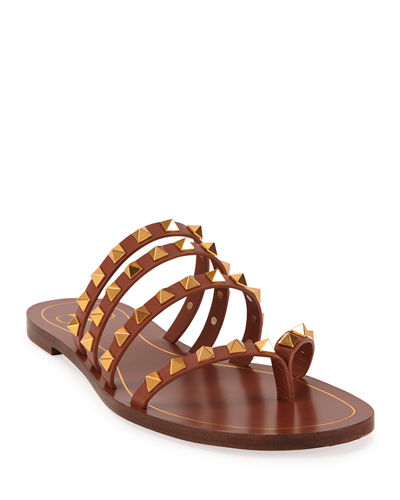 Rockstud Flair Flat Cage Thong Sandals