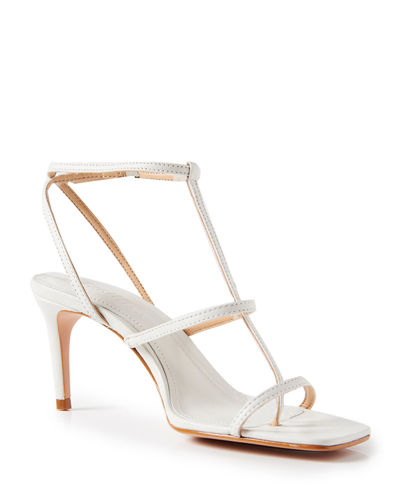 Ameena Leather T-Strap Sandals