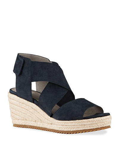 Willow Crisscross Suede Wedge Espadrilles