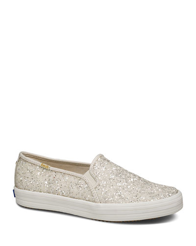 x kate spade double decker  glitter sneakers