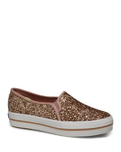 x kate spade triple decker glitter sneakers