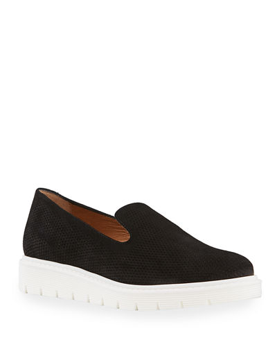 Kay Embossed Dress Suede Loafers