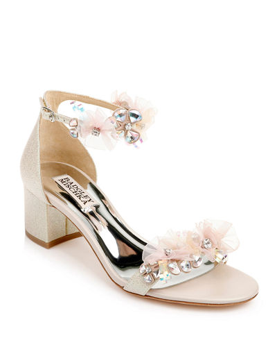 Candy Crystal Beaded Satin Sandals