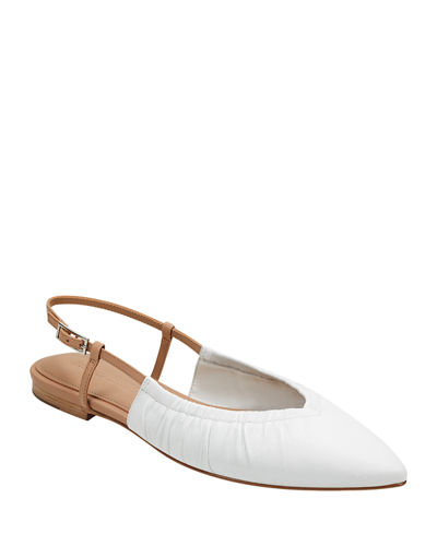 Lamya Leather Slingback Flats