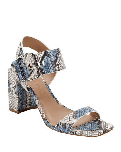 Carmel Metallic Mock-Croc Sandals