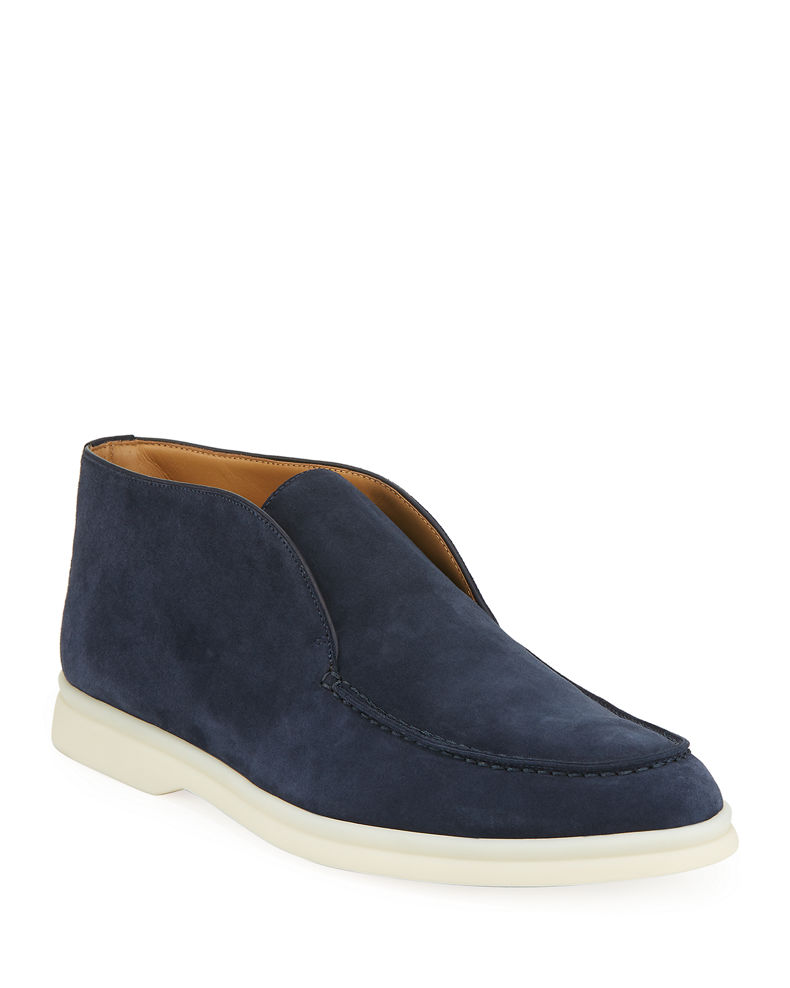 Loro Piana Open Walk Suede Booties