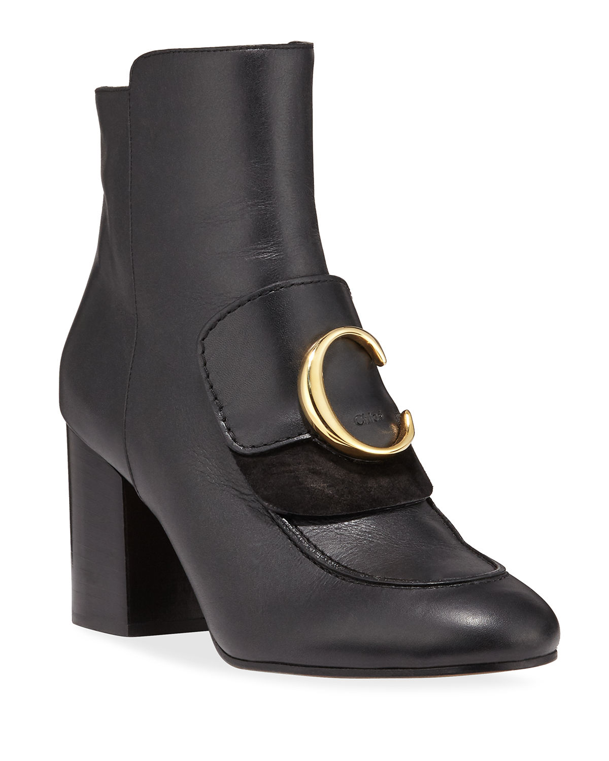 Chloé Boots C LEATHER ZIP BOOTIES