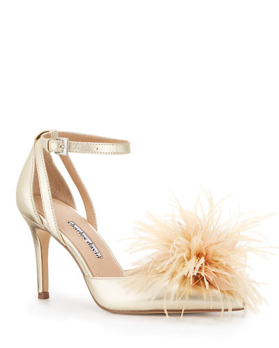 Violate Ankle-Strap Feather Pumps
