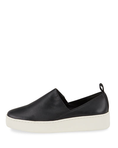 Vince Saxon Napa Leather Slip-On Sneakers