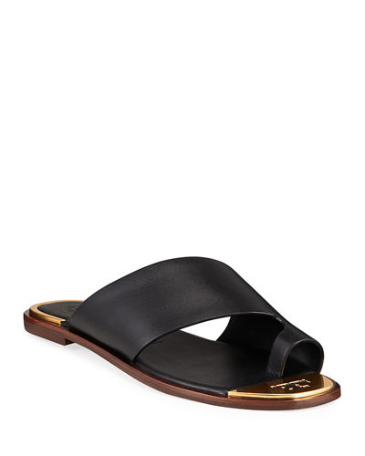 Selby Flat Toe-Ring Slide Sandals