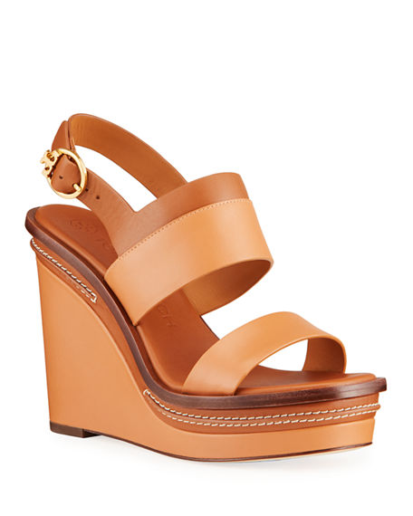 Tory Burch Selby 90mm Wedge Sandals