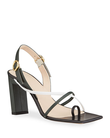 Wandler Eliza Square-Toe Sandals
