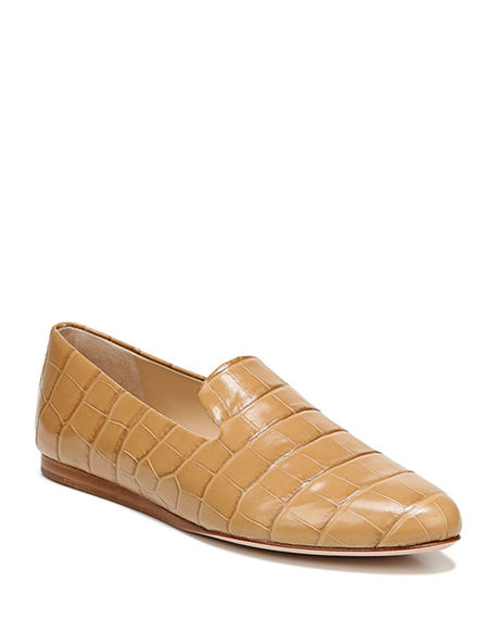 Veronica Beard Griffin Mock-Croc Loafers