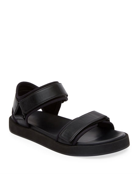Image 1 of 3: THE ROW Hook-and-Loop Sandals