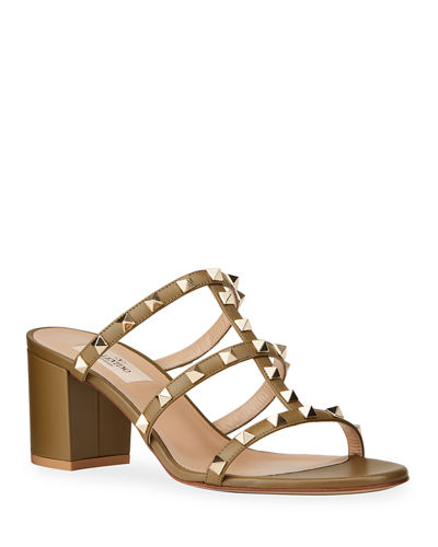 Rockstud City Cage Slide Sandals