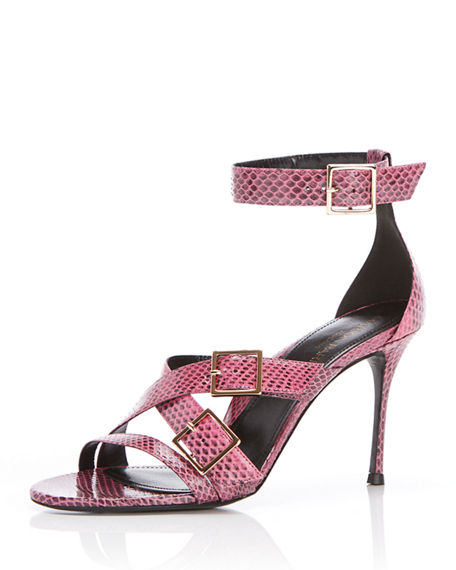 Marion Parke Lizzo Snake Buckle Stiletto Sandals