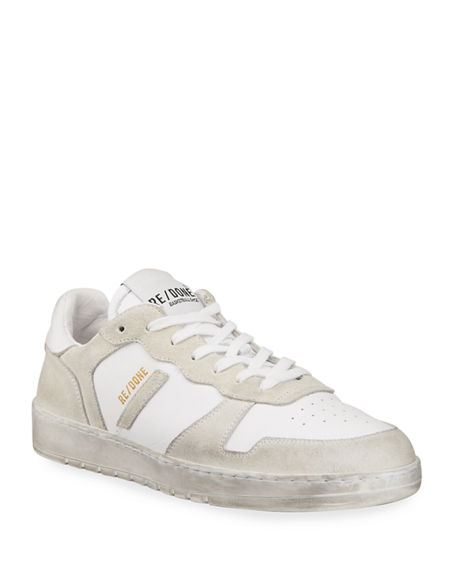 RE/DONE 80s Mixed Leather Court Sneakers