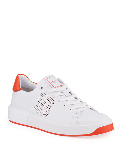 B Court Two-Tone Perforated Sneakers