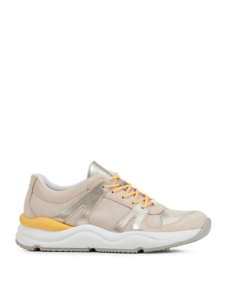 Image 2 of 4: Geox Topazio Colorblock Suede Trainer Sneakers