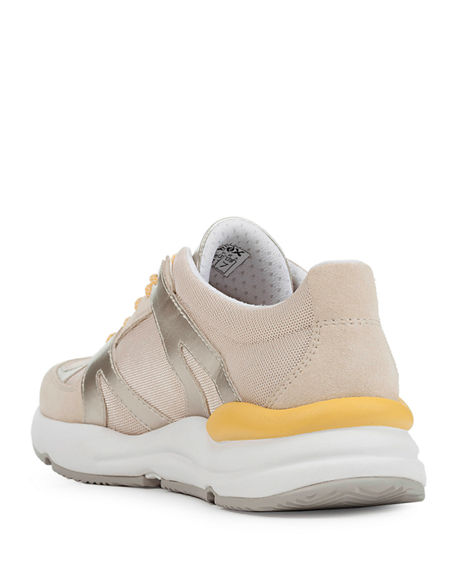 Image 4 of 4: Geox Topazio Colorblock Suede Trainer Sneakers