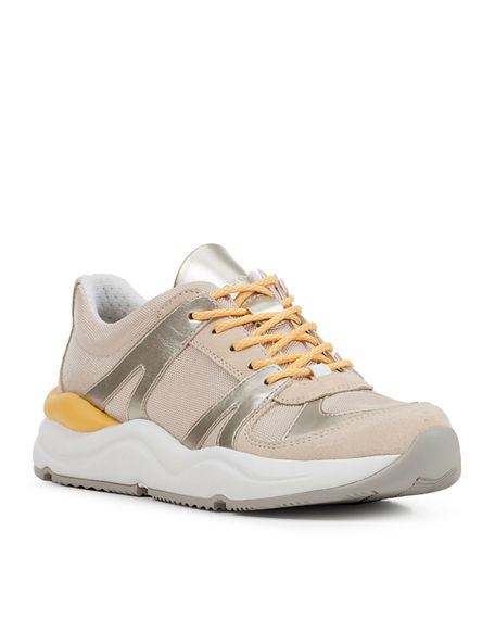Image 1 of 4: Geox Topazio Colorblock Suede Trainer Sneakers