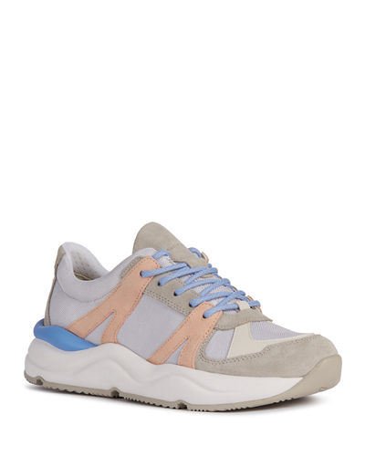 Topazio Colorblock Suede Trainer Sneakers
