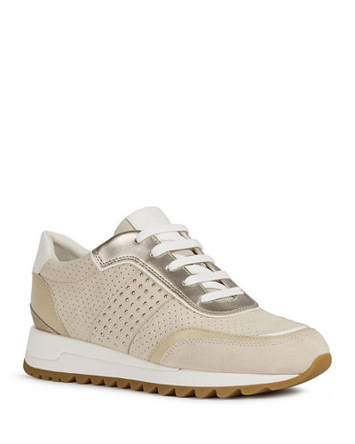 Tabelya Mixed Leather Trainer Sneakers