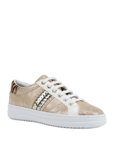 Pontoise Mixed Leather Low-Top Sneakers
