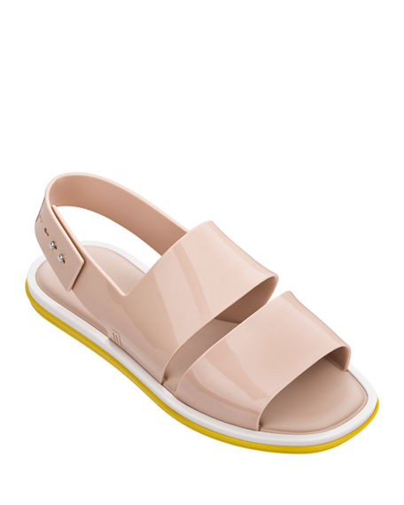 Melissa Shoes Carbon Two Band Slingback Sandals