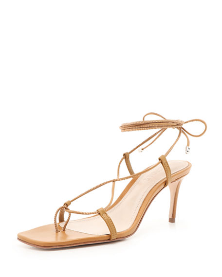 Schutz Antosha Heeled Ankle-Tie Sandals