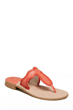 Jack Rogers Jackie Flat Whipstitch Thong Sandals