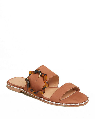 Maisy Flat Buckle Strap Slide Sandals