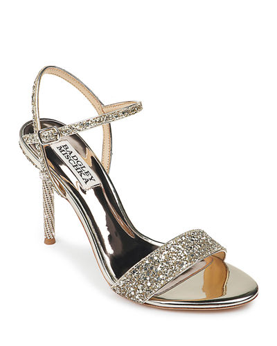 Olympia High-Heel Glitter Sandals
