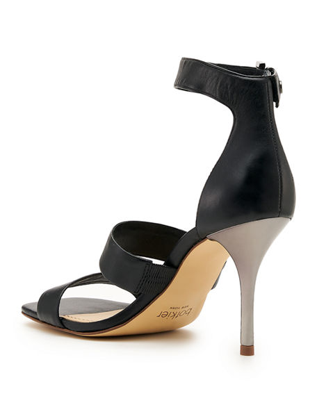 Image 4 of 4: Botkier Lorri Two Band Ankle-Strap Sandals