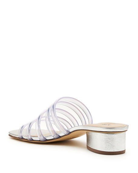 Image 4 of 4: Botkier Yani Jelly Caged Slide Sandals