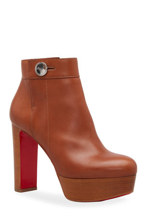 Christian Louboutin Janis Alta Platform Red Sole Booties