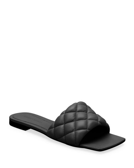 Bottega Veneta Matelasse Quilted Flat Slide Sandals