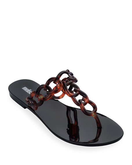 Melissa Shoes Big Chain Ombre Thong Sandals