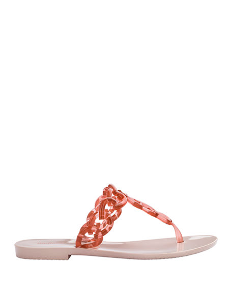 Image 2 of 2: Melissa Shoes Big Chain Ombre Thong Sandals