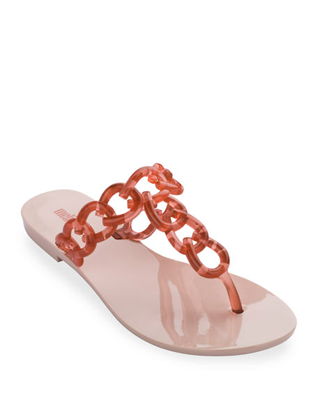 Image 1 of 2: Melissa Shoes Big Chain Ombre Thong Sandals