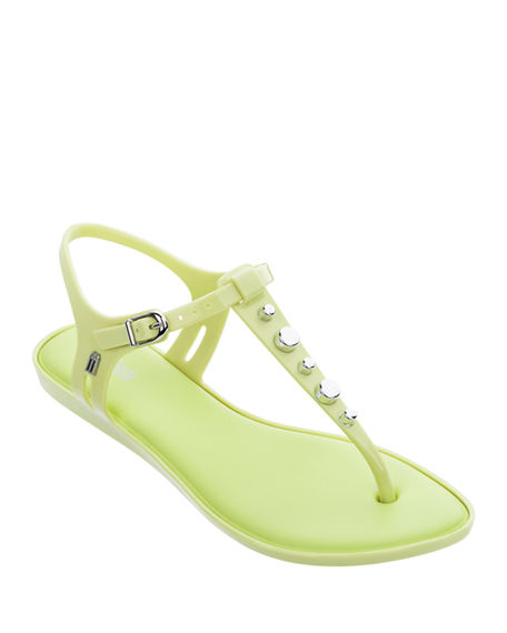 Melissa Shoes Solar Studded Jelly Thong Sandals