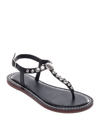 Mojo2 Flat Studded Leather Sandals
