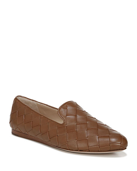 Veronica Beard Griffin-3 Woven Napa Loafers