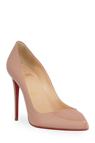 Christian Louboutin Corneille Asymmetric Patent Red Sole Pumps