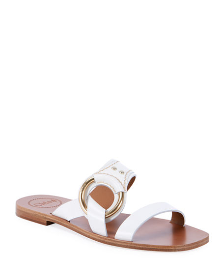 Chloe Demi Two-Band Flat Sandals