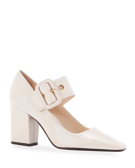 Marion Parke Waverly Leather Buckle Pumps